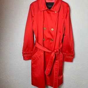 Coach Classic Red Trench Coat / Rain Jacket - LG